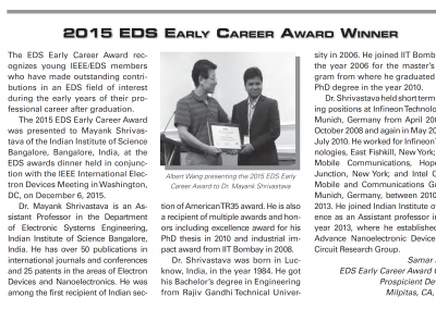 EDS Newsletter - April 2016 - EDS Award