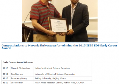 IEEE EDS Early Career Award - IEEE